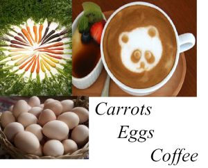 Coffee Eggs & Carrots